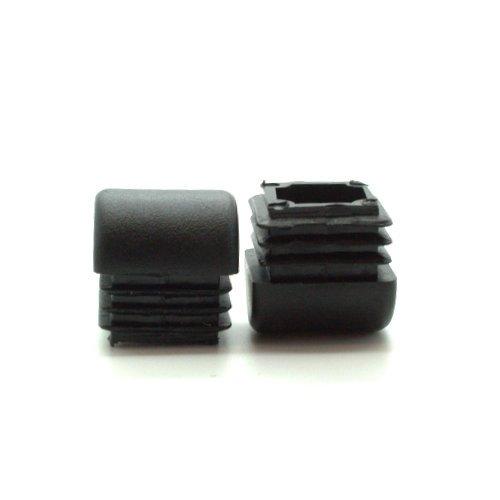 Lot de 25 22 mm Carré en forme de dôme inserts, plastique Pieds carrés pour tubes, inserts pour pieds, EN FORME DE dôme Base Tube Fittings