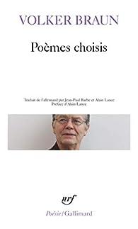 Poèmes choisis par Volker Braun