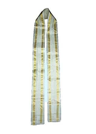 Mkgs Unisex Silk Angavastra (Mkgs_4_Off White)(Pack of 7)