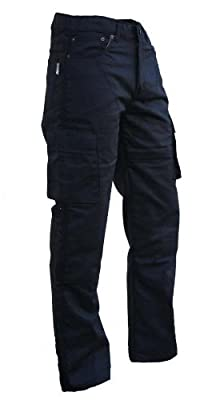 Australian Bikers Gear UK Australian Bikers Gear Black Motorcycle Kevlar CE Armoured Cargo Jeans Trousers UK 44L- EU 54L