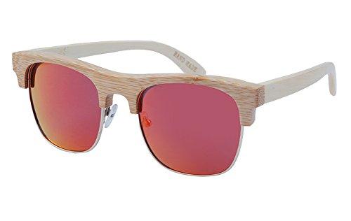 Insun Herren Sonnenbrille Gr. Einheitsgröße, Mehrfarbig - 2010-MC5 Wood Frame