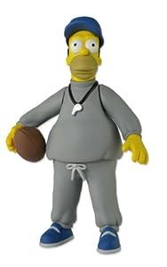NECA 16006 Simpsons Homer Coach Action - Figura Gris, Azul, Amarillo, 5 Pulgadas