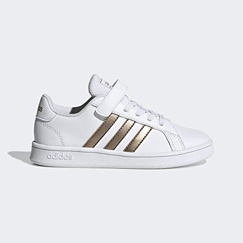 adidas Grand Court C, Zapatillas de Tenis Unisex Niños, Multicolor (Ftwwht/Copper/Glopnk Ef0107),...