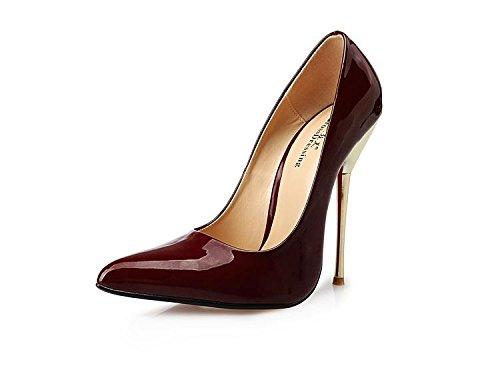 Chaussures À Talons Hauts Heisimei Femmes / Pu / Talons Aiguilles / Bureau & Carrière / Party Et Soirée / Mariage / Robe / Super Haut Talon / Hommes / Unisexe, Noir, 47 Redwine 43