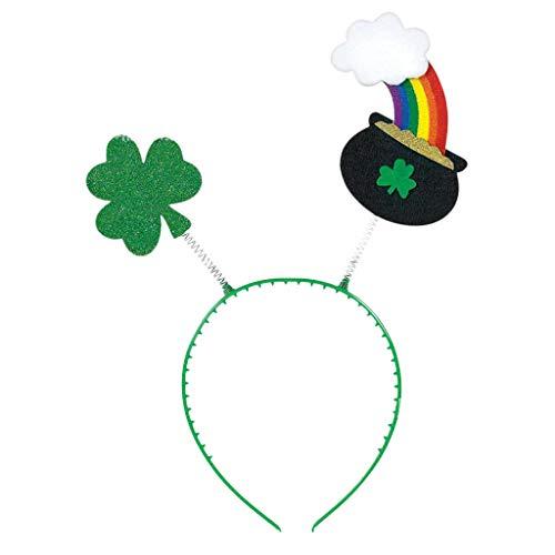 VJGOAL St. Patrick's Day Hut, Damen Herren Unisex Neuheit Party Performer Grün Klee Regenbogen Kopf Schnalle Stirnband Zubehör Familie Freund Geschenk