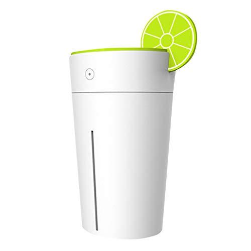 UJUNAOR Zitrone Luftbefeuchter Oil Düfte Humidifier Holzmaserung LED für Yoga Salon Spa Wohn-, Schlaf-, Bade- oder Kinderzimmer Hotel(Grün,One size) - Digital-timer-diffusor