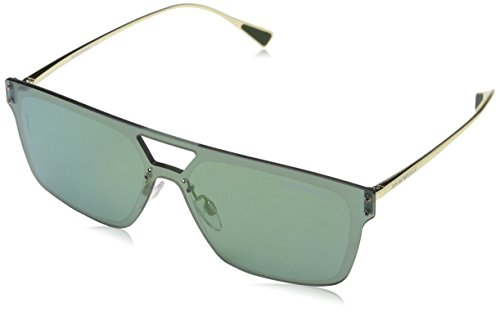 Emporio Armani Herren 0EA2048 30136R 43 Sonnenbrille, Gold/Green Petrol