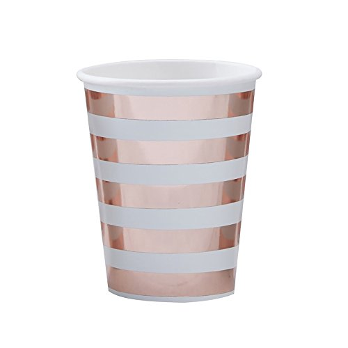 Hello World - Mint & Rose Gold Paper Cups Rose Becher