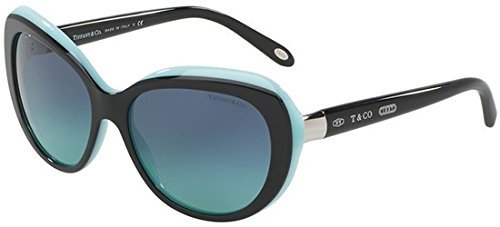 Tiffany 0ty4122 80559s, occhiali da sole donna, nero (black/blue/blueegradient), 56