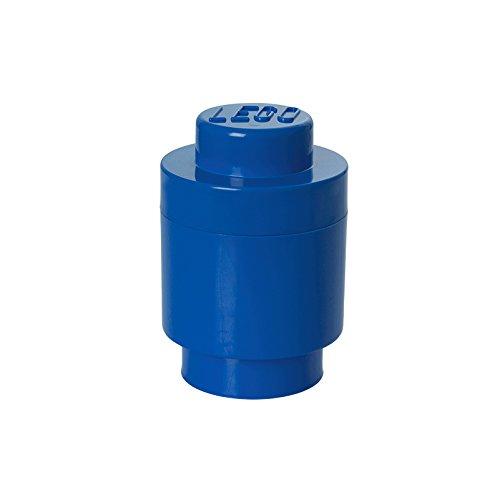 Mattoncino-contenitore lego a 1 bottoncino rotondo, contenitore impilabile, 950 ml, blu