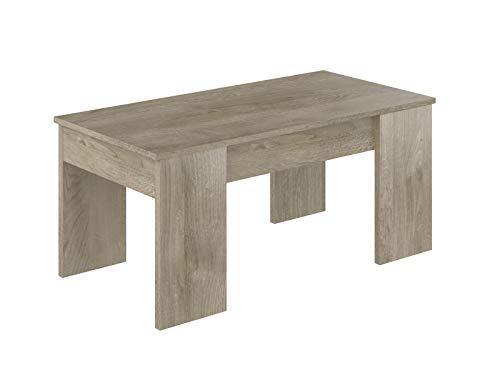 Movian - Table basse avec plateau relevable Aggol Modern, 50 x 100 x 44, Effet Chêne