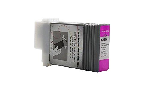 Galleria fotografica 1X cartuccia di inchiostro compatibile con stampanti PFI 102per Canon Imageprograf IPF 50051006006000605610650655700710750755760765S L MFP M 40| 0897B001| | Magenta 130ML