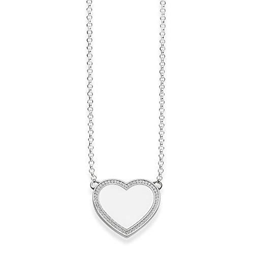 Thomas Sabo Damen-Collier Glam & Soul 925 Sterling Silber Zirkonia weiß Länge von 38 bis 42 cm KE1479-051-14-L42v