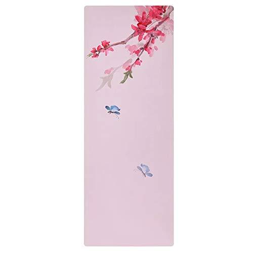 Gkingif Yoga Tuch Handtuch Rutschfeste Tragbare Yoga-Matte Pilates Gymnastikmatte Faltbare Sportmatte Schweiß Handtuch, L183cm W68cm (Farbe : Rosa)