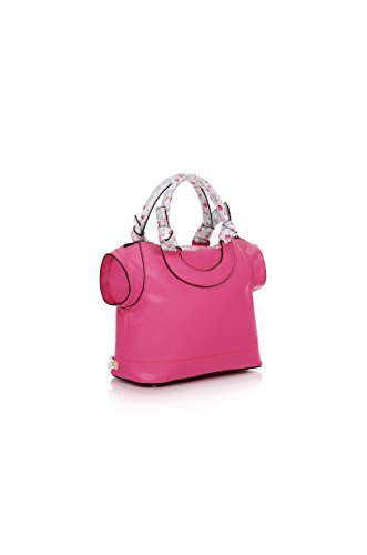 LE PANDORINE Borsa Donna T-Bag Non cè due senza te, PE18DAU02180,30X24,5X12 cm Fuxia