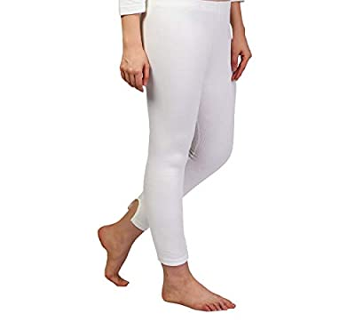 ZIMFIT Cotton Women's or Girls Winter wear Full Sleeves Thermal,Warmer Lower in White Colour (Pack of 1)