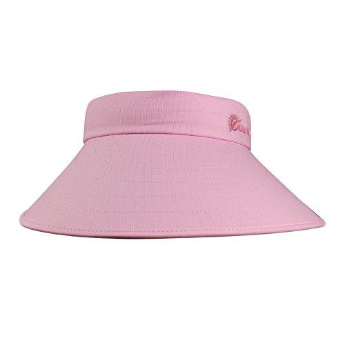Ying xinguang primavera ed estate la visiera in pelle da donna è ampia lungo il cappello a cilindro rosa !