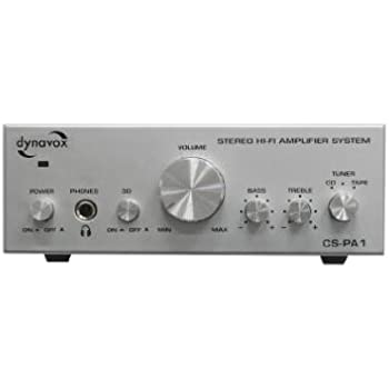 Dynavox CS-PA1 Mini amplificateur HiFi 2 x 50 W Argent (Import Allemagne)