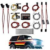 INJORA LED Beleuchtung Set LED Light System RC LED Set RC LED Licht KIT für 1/10 RC Car Traxxas TRX4 82046-4