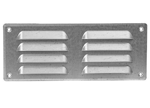Rejilla de ventilación (galvanizada, 260 x 105 mm, con protección contra insectos,...