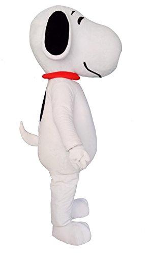 Hund Puppy Erwachsene Halloween Maskottchen Kostüm Kleid Outfit (Erwachsenen Snoopy Kostüme)