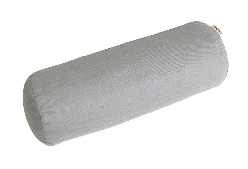 beties Farbenspiel Nackenrollen Bezug ca. 15x40 cm Baumwoll-Serie in Uni (Platin) -