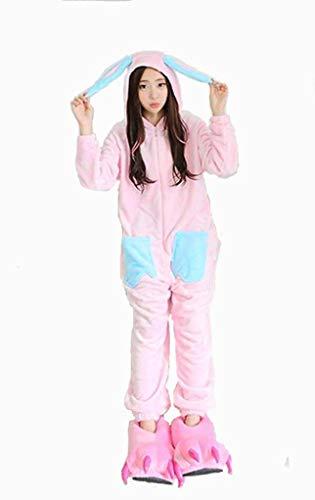 wäsche Kostüm Cosplay Unisex Erwachsene Kinder Halloween Weihnachten Freunde Familie Paare Nachthemd Outfit Fleece Flanell Polyester Blaues Ohr Kaninchen ()