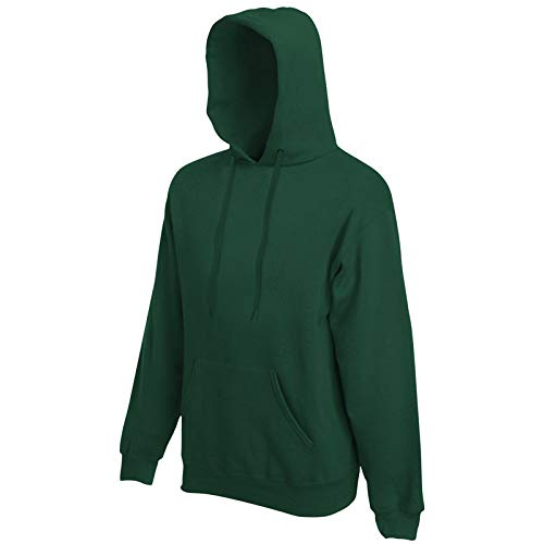 Fruit of the Loom Hooded Sweat Flaschengrün - L