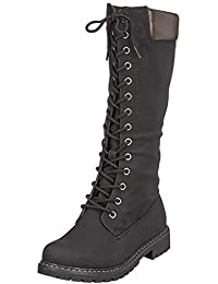 6edfd7e91 Amazon.es  botas negras tacon ancho - 4 - 7 cm   Zapatos para mujer ...