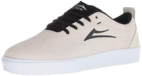 Lakai Herren Bristol, White/Black Suede, 46 EU Black Multi Suede Schuhe