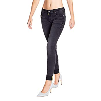 Blue Monkey Damen Cropped Jeans Honey Black