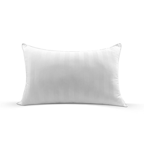 Masvis Bed Pillows Bedding Series-100% Cotton Fabric-Hypoallergenic & Dust Mite Resistant White (Standard-Firm)