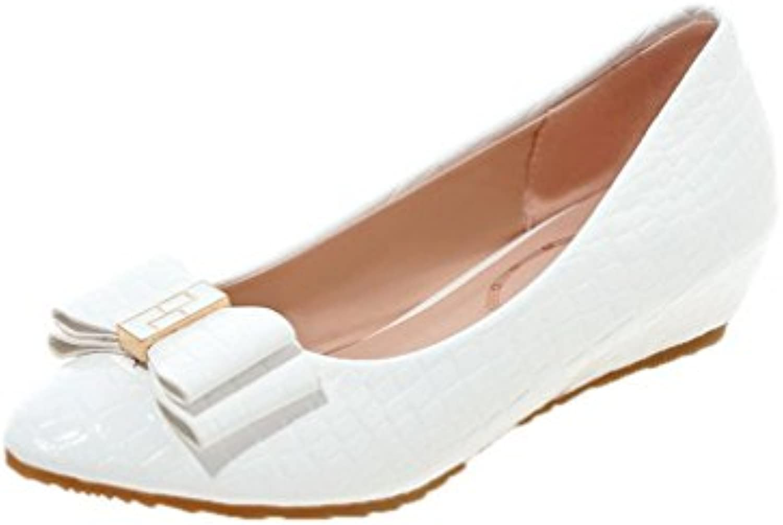 odomolor femmes tire sur les talons de chaussures solides solides solides orteils à faible cycle, blanc, 36 b07bbhm55t parent becb8d