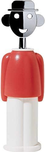 Alessi Alessandro M AAM23 R Cavatappi di Design in Zama Cromata e Resina Termoplastica, Rosso