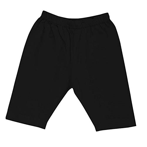 Pure Cotton Cycling Shorts for Girls & Kids (Pack of 5 Black),Year 12
