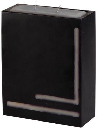 CERERIA Ronca 4426B & W Rechteck Dekor, 1Winkel, Schwarz