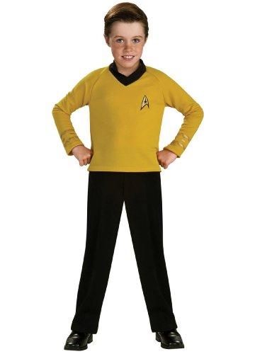 (Rubies Kost-me 185919 Star Trek Classic Gold Kinderkost-m Gold-Medium - 8-10)