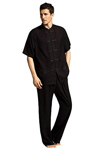 ZooBoo Men Short Sleeved Kung Fu Uniform Tang Suits Test
