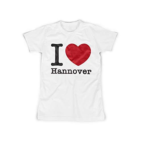 licaso Frauen T-Shirt mit I Love Hannover Aufdruck in White Gr. XXXXL I Love Hannover Design Top Shirt Frauen Basic 100{3c10241b4ee0c8c03027460a695ea99c59f5dd9cc91fd2d4189805f8fc859abf} Baumwolle Kurzarm