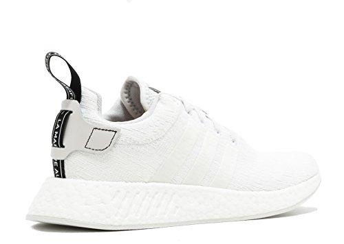 adidas NMD_r2, Scarpe Sportive Uomo Bianco (Balcri/Balcri/Negbas)