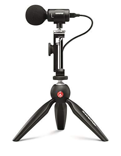Shure MV88+ Video Kit - Premium Microfono digitale stereo a condensatore per registrazioni audio e video da mobile