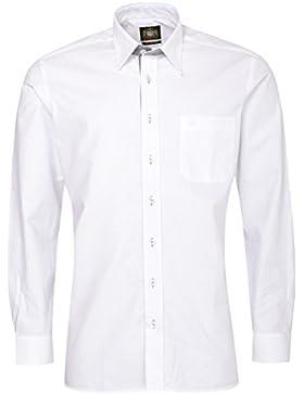 Hammerschmid Trachtenhemd Sebastian Slim Fit mit Biesen in Weiß
