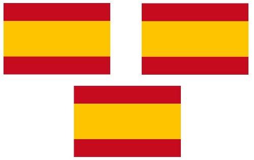 Michael & Rene Pflüger Barmstedt - Mini Aufkleber Fahne von Spanien Flaggen Sticker Auto Motorrad Fahrrad Bike auch für Dampfer E-Zigarette Sisha -