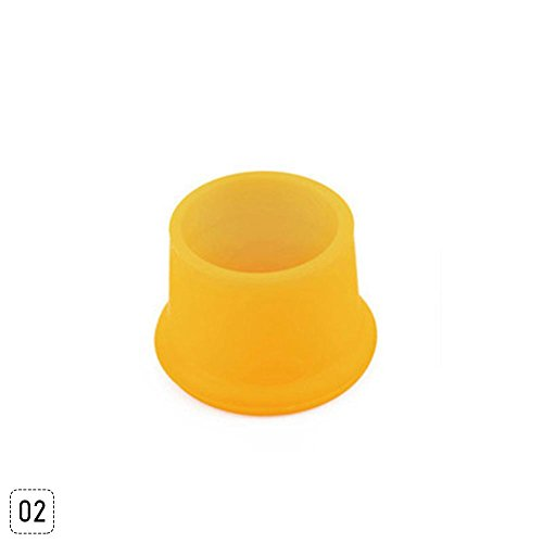 Teabelle wiederverwendbar Silikon Wein Bier Top Flasche GAP Stöpsel Drink Saver Maschinen, 02(yellow) (Top-wärmer 2)