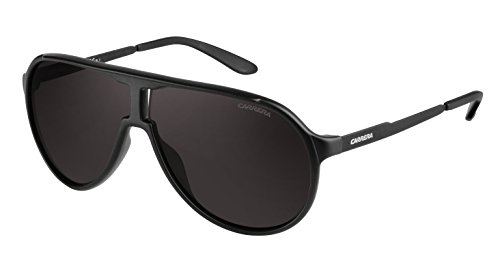 Carrera Unisex-Erwachsene New Champion NR Guy Sonnenbrille, Schwarz (Black Matte/Brown Grey), 62