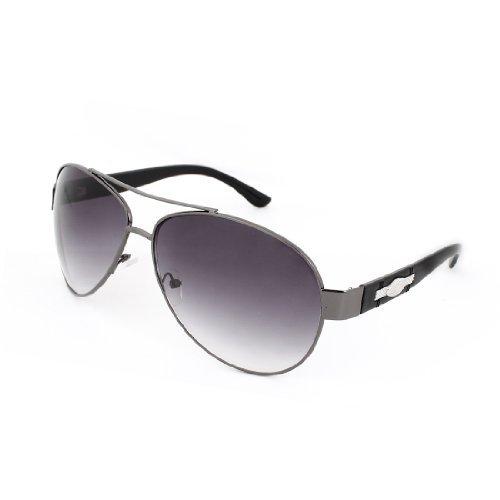 Farbige Tear Drops Len Oval geformt Metall Intarsien Arm Sonnenbrillen für Männer