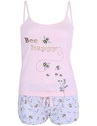 Pijama Rosa y Gris de Abejas