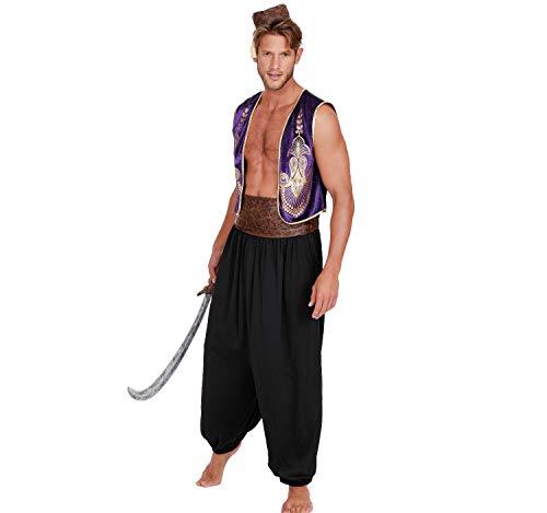 Dreamgirl Herren Kostüm Orient Arabischer Prinz Aladin 1001 Nacht Fasching Karneval M, L, XL, XXL - Dreamgirl Herren Kostüm