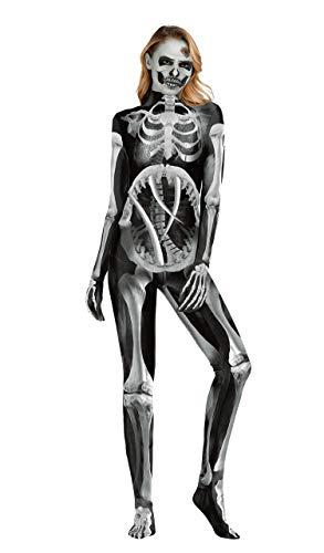 URVIP Unisex Halloween Unheimlich Gespenstisch Bodycon Party Cosplay Kostüm Overalls WB141-003 S (Die Parteien Gruselige Halloween-spiele,)
