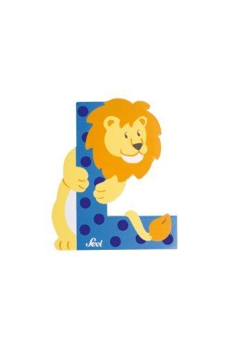 Trudi 81612 - Sevi Tierbuchstabe Löwe L hellblau